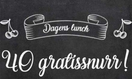 40 gratissnurr varje lunch – Snurra gratis 500 gånger inom 2 veckor